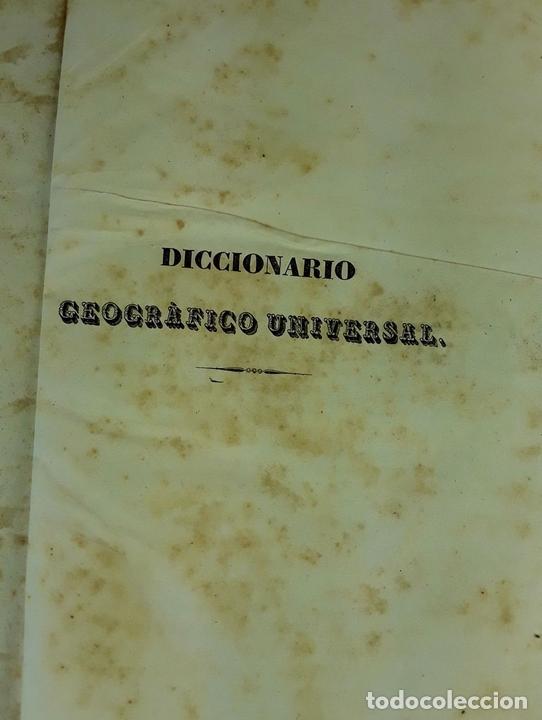 Diccionarios antiguos: DICCIONARIO GEOGRÁFICO UNIVERSAL. X TOMOS MAS SUPLEMENTO. 1830-1846 - Foto 2 - 110972971