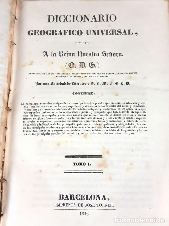 Diccionarios antiguos: DICCIONARIO GEOGRÁFICO UNIVERSAL. X TOMOS MAS SUPLEMENTO. 1830-1846 - Foto 5 - 110972971