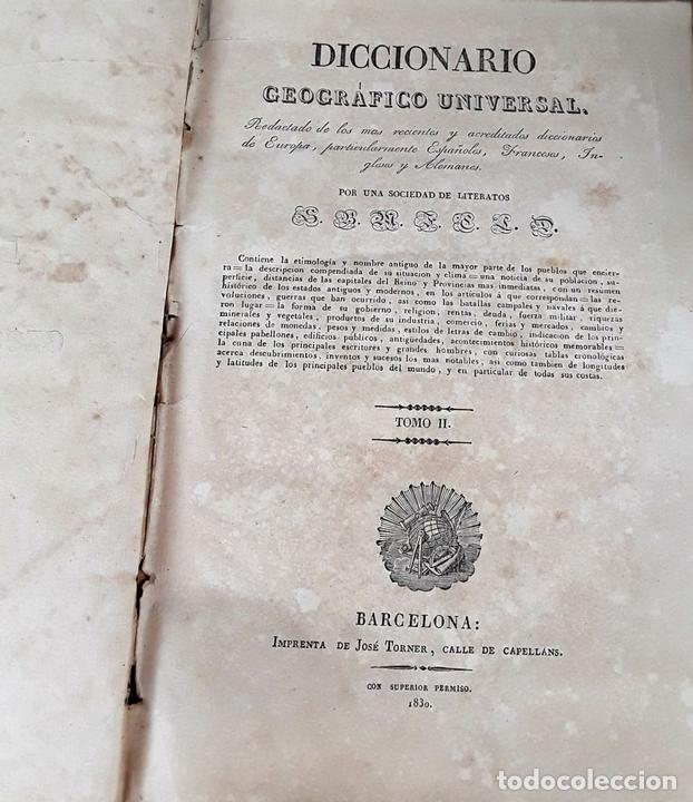 Diccionarios antiguos: DICCIONARIO GEOGRÁFICO UNIVERSAL. X TOMOS MAS SUPLEMENTO. 1830-1846 - Foto 6 - 110972971