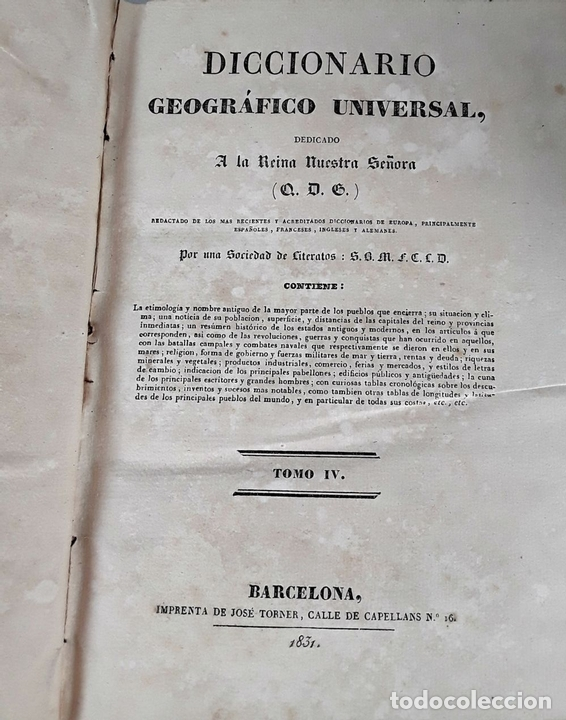 Diccionarios antiguos: DICCIONARIO GEOGRÁFICO UNIVERSAL. X TOMOS MAS SUPLEMENTO. 1830-1846 - Foto 8 - 110972971
