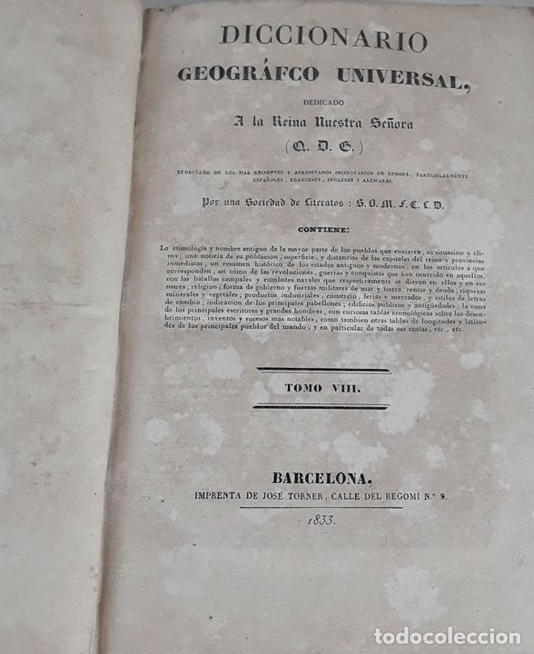 Diccionarios antiguos: DICCIONARIO GEOGRÁFICO UNIVERSAL. X TOMOS MAS SUPLEMENTO. 1830-1846 - Foto 12 - 110972971