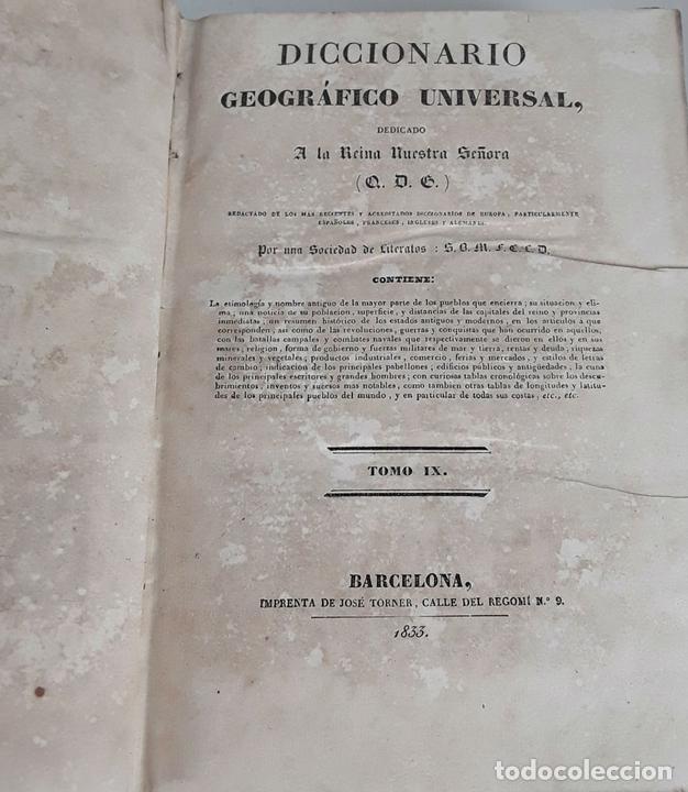 Diccionarios antiguos: DICCIONARIO GEOGRÁFICO UNIVERSAL. X TOMOS MAS SUPLEMENTO. 1830-1846 - Foto 13 - 110972971