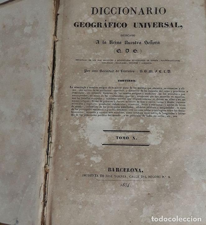 Diccionarios antiguos: DICCIONARIO GEOGRÁFICO UNIVERSAL. X TOMOS MAS SUPLEMENTO. 1830-1846 - Foto 14 - 110972971