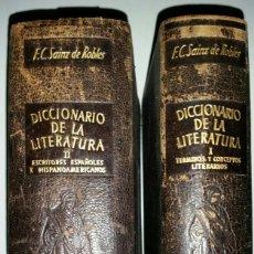 Diccionarios antiguos: DICCIONARIO DE LA LITERATURA I Y II. Lote 112607835