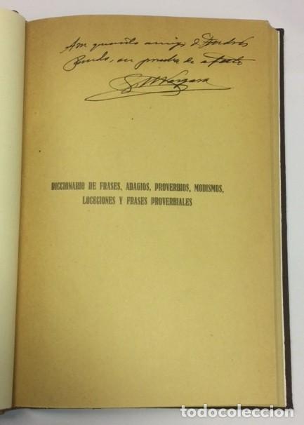 Diccionarios antiguos: AÑO 1929 - VERGARA MARTÍN, Gabriel María. Diccionario de frases... América Española AUTÓGRAFO - Foto 3 - 113327943