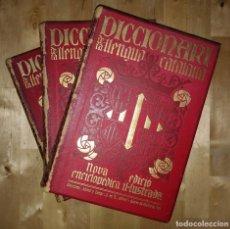 Diccionarios antiguos: DICCIONARI DE LA LLENGUA CATALANA DE 1910 AMB 19 MAPAS, 2736 GRAVATS I 21 MAPES COMARCALS. Lote 114226843