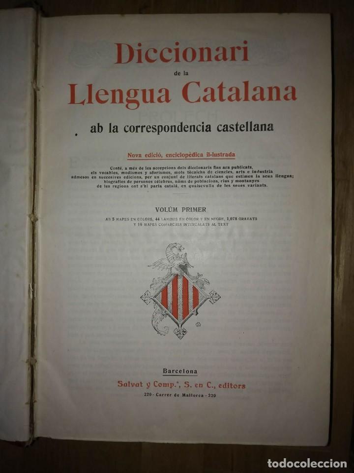 Diccionari de la llengua catalana de 1910 amb 19 mapas, 2736 gravats i 21 mapes comarcals