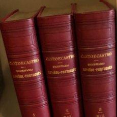 Diccionarios antiguos: DICCIONARIO ESPAÑOL-PORTUGUES-3TOMOS-CANTOECASTRO(45€). Lote 115410975