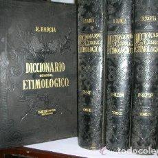 Diccionarios antiguos: DICCIONARIO GENERAL ETIMOLOGICO DE LA LENGUA ESPAÑOLA - 1ª EDICION AÑO 1880 - ROQUE BARCIA.. Lote 131589073