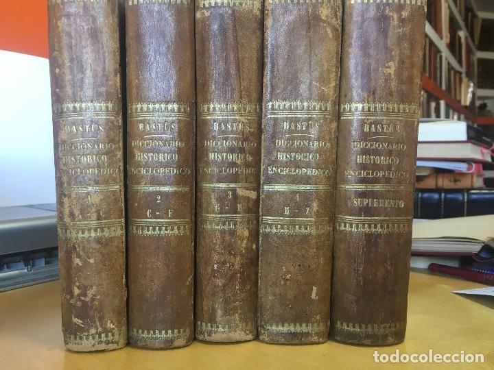 1854.- DICCIONARIO HISTÓRICO ENCICLOPÉDICO. BASTÚS Y CARRERA, JOAQUÍN VICENTE.] (Libros Antiguos, Raros y Curiosos - Diccionarios)