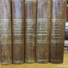 Diccionarios antiguos: 1854.- DICCIONARIO HISTÓRICO ENCICLOPÉDICO. BASTÚS Y CARRERA, JOAQUÍN VICENTE.]. Lote 115654447