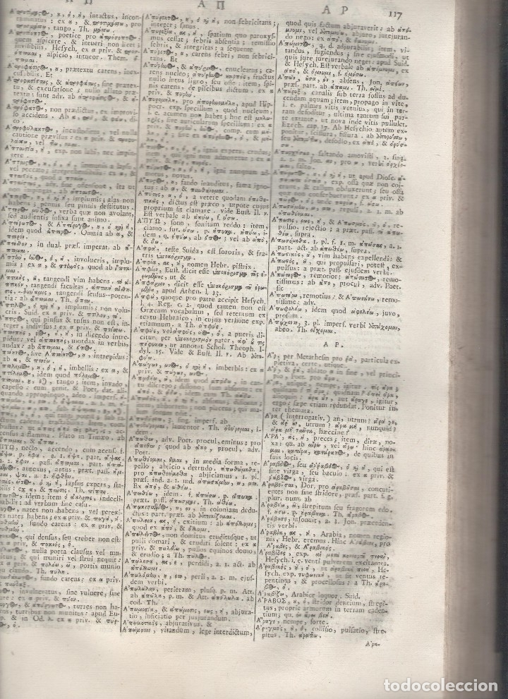 Diccionarios antiguos: CORNELII SCHREVELII. Lexicon Manuale Graeco-Latinum et Latino-Graecum. RM79336. - Foto 7 - 79210405