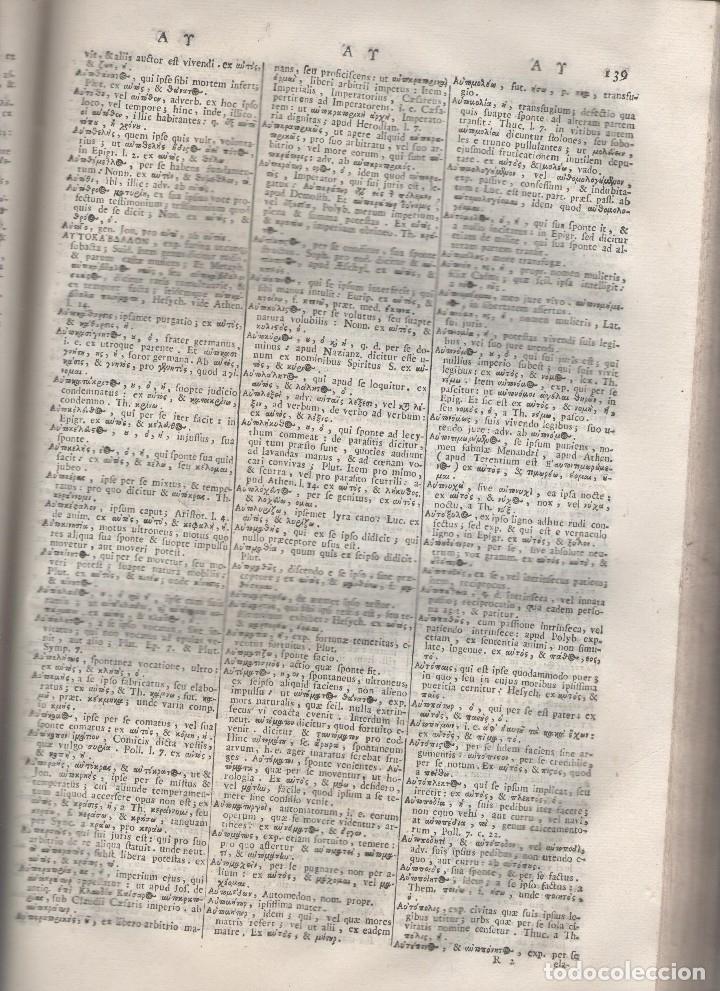 Diccionarios antiguos: CORNELII SCHREVELII. Lexicon Manuale Graeco-Latinum et Latino-Graecum. RM79336. - Foto 8 - 79210405