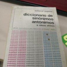 Diccionarios antiguos: DICCIONARIO DE SINÓNIMOS ANTÓNIMOS E IDEAS AFINES. Lote 117567671