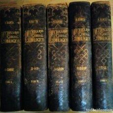 Diccionarios antiguos: DICCIONARIO GENERAL ETIMOLÓGICO - R.BARCIA - EDITOR SEIX 1894 COMPLETO, 5 TOMOS GRAN PRECIO. Lote 117781983