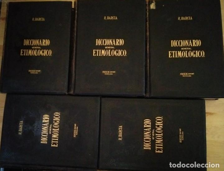 DICCIONARIO GENERAL ETIMOLÓGICO - R.BARCIA - EDITOR SEIX 1894 COMPLETO, 5 TOMOS GRAN PRECIO - 117781983