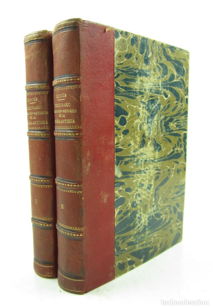 DICCIONARIO GEOGRÁFICO-HISTÓRICO DE LA ESPAÑA ANTIGUA, 1835, 2 VOL, M. CORTÉS, MADRID. 16X21,5CM (Libros Antiguos, Raros y Curiosos - Diccionarios)