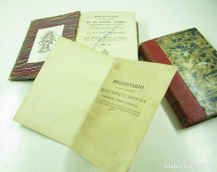 Diccionarios antiguos: Diccionario geográfico-histórico de la España antigua, 1835, 2 vol, M. Cortés, Madrid. 16x21,5cm - Foto 4 - 118241583