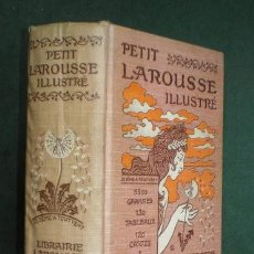Diccionarios antiguos: PETIT LAROUSSE ILLUSTRÉ. 5800 GRAVURES, 130 TABLEAUX, 120 CARTES. AÑO 1908 . Lote 122111383