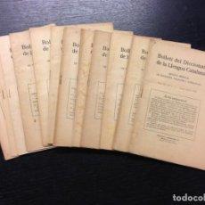 Diccionarios antiguos: BOLLETI DEL DICCIONARI DE LA LLENGUA CATALANA, 1933 (COMPLET). Lote 188670787