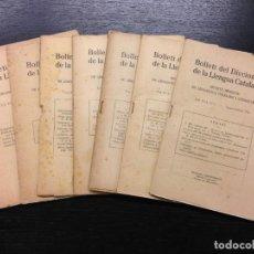 Diccionarios antiguos: BOLLETI DEL DICCIONARI DE LA LLENGUA CATALANA, 1934 (COMPLET). Lote 188670833