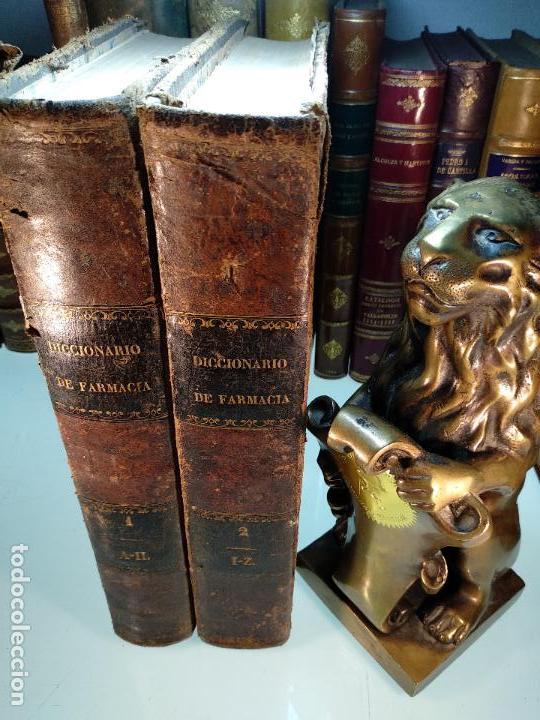 DICCIONARIO DE FARMACIA DEL COLEGIO DE FARMACEUTICOS DE MADRID - VV. AA. - 2 TOMOS - MADRID - 1865 - (Libros Antiguos, Raros y Curiosos - Diccionarios)