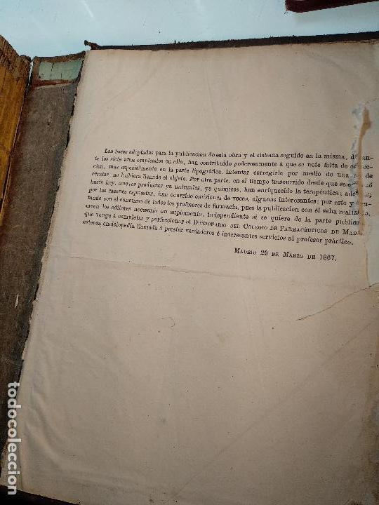 Diccionarios antiguos: DICCIONARIO DE FARMACIA DEL COLEGIO DE FARMACEUTICOS DE MADRID - VV. AA. - 2 TOMOS - MADRID - 1865 - - Foto 13 - 124012415