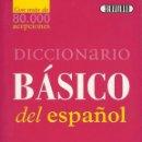 Diccionarios antiguos: DICCIONARIO BASICO DEL ESPAÑOL. Lote 125971999