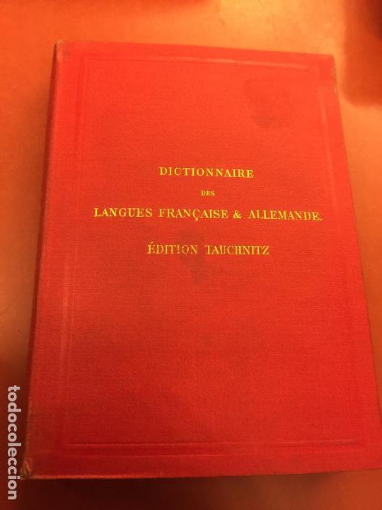 DICTIONNAIRE DES LANGUES FRANÇAISE ET ALLEMANDE - CUARTA EDICION - AÑO 1888 - 242PGS (Libros Antiguos, Raros y Curiosos - Diccionarios)