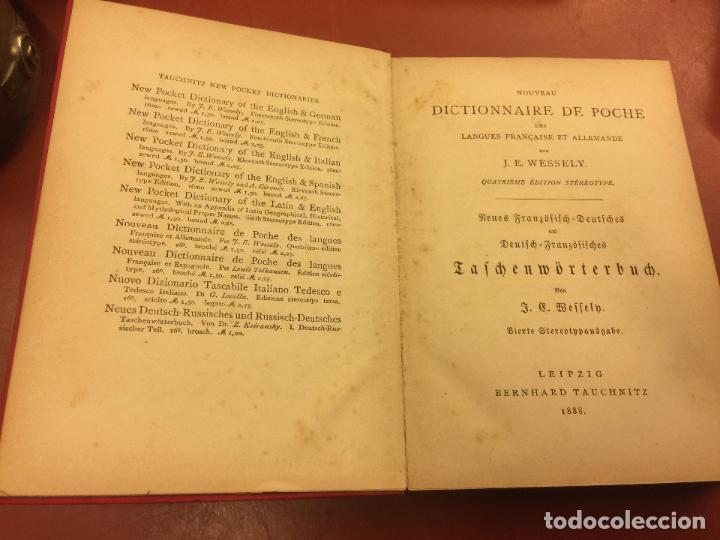 Diccionarios antiguos: DICTIONNAIRE DES LANGUES FRANÇAISE ET ALLEMANDE - CUARTA EDICION - año 1888 - 242pgs - Foto 2 - 126272259