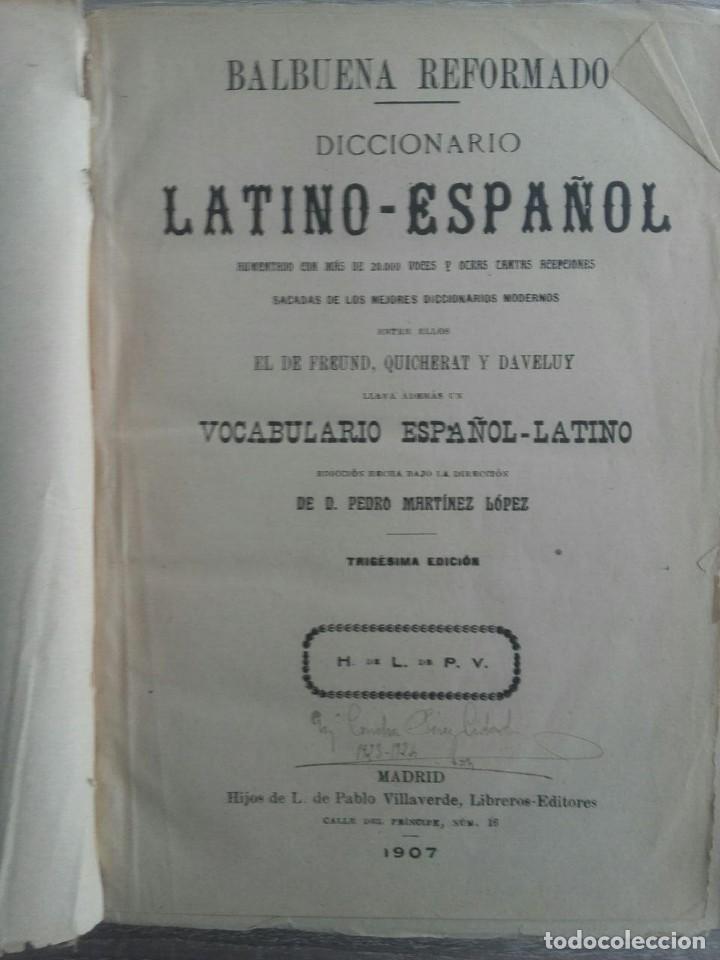 Diccionarios antiguos: DICCIONARIO LATINO ESPAÑOL ** VALBUENA REFORMADO - Foto 4 - 126272547