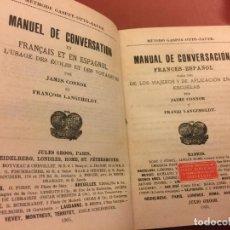 Diccionarios antiguos: MANUAL DE CONVERSACION FRANCES - ESPAÑOL DE JAIME CONNOR - 224PAGS. Lote 126273735