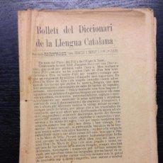 Diccionarios antiguos: BOLLETI DEL DICCIONARI DE LA LLENGUA CATALANA, TOM XIII, N. 1, GENER-ABRIL DE 1923. Lote 126937435