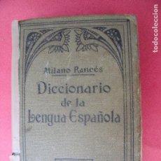 Diccionarios antiguos: ATILANO RANCES.-DICCIONARIO DE LA LENGUA ESPAÑOLA.-EDICION DE BOLSILLO.-ESCUELAS.-SOPENA.-AÑO 1926.. Lote 128072703