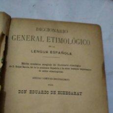 Diccionarios antiguos: DICCIONARIO GENERAL ETIMOLÓGICO LENGUA ESPAÑOLA. EDUARDO DE ETCHEGARAY. 1887. 5 TOMOS. Lote 128514643