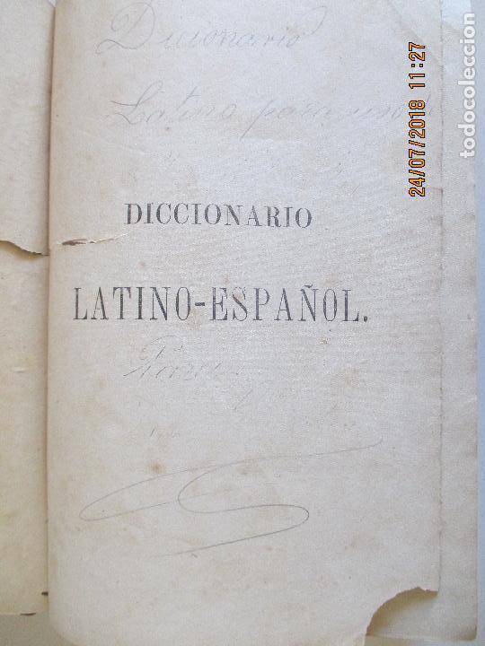 Diccionarios antiguos: VALBUENA REFORMADO. DICCIONARIO LATINO-ESPAÑOL. VIGESIMA EDICION. MADRID 1884 - Foto 3 - 129066855