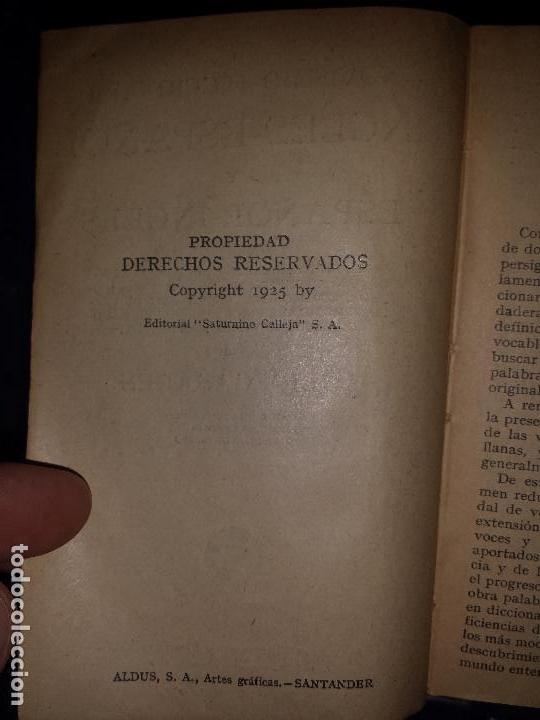 Diccionarios antiguos: Diccionario Ingles Español , Editorial Calleja 1925 - Foto 5 - 129380491