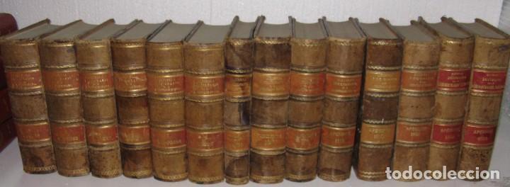 DICCIONARIO DE LA ADMINISTRACIÓN ESPAÑOLA. 14 VOLUM. ALCUBILLA FINALES XIX (Libros Antiguos, Raros y Curiosos - Diccionarios)