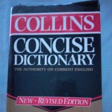 Diccionarios antiguos: DICCIONARIO,COLLINS CONCISE DICTIONARY. Lote 130029083