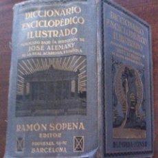 Diccionarios antiguos: DICCIONARIO ENCICLOPÉDICO ILUSTRADO - JOSÉ ALEMANY (RAE) - LIMPIDA FONS, 2712 PÁGINAS. Lote 130835404