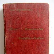 Diccionarios antiguos: MANUAL DE CONVERSACIÓN CASTELLANO-EUSKERA. ISAAC LOPEZ MENDIZABAL. TOLOSA 1908 PRIMERA EDICION. Lote 130913808