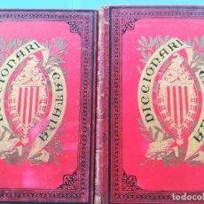 Diccionarios antiguos: DICCIONARI LLENGUA CATALANA-PERE LABERNIA I ESTELLER-ESPASA I COMPANYIA EDITORS (2 TOMOS) APRX 1888. Lote 131414766
