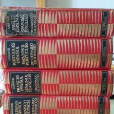 Diccionarios antiguos: COLECCIÓN DICCIONARIOS IDIOMAS: ESPAÑOL:FRANCÉS/ALEMÁN/RUSO/ITALIANO/PORTUGUÉS/INGLÉS. Lote 132475666