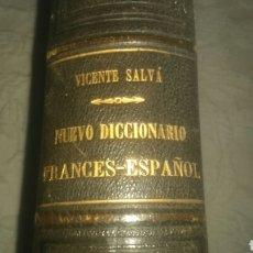 Livros antigos: ANTIGUO DICCIONARIO DE FRANCÉS ESPAÑOL 1890 DE VICENTE SALVA.. Lote 133240393