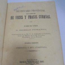 Diccionarios antiguos: DICCIONARIO DE VOZES Y FRASES CUBANAS. ESTEBAN PICHARDO. 4º EDICION. 1875. HABANA. Lote 133799094