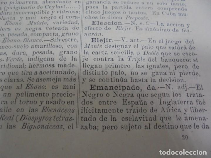 Diccionarios antiguos: DICCIONARIO DE VOZES Y FRASES CUBANAS. ESTEBAN PICHARDO. 4º EDICION. 1875. HABANA - Foto 5 - 133799094