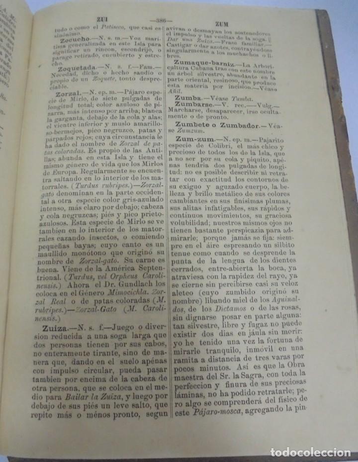 Diccionarios antiguos: DICCIONARIO DE VOZES Y FRASES CUBANAS. ESTEBAN PICHARDO. 4º EDICION. 1875. HABANA - Foto 7 - 133799094
