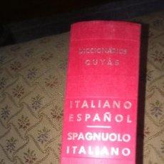 Diccionarios antiguos: DICCIONARIO ITALIANO- ESPAÑOL- SPAGNUOLO- ITALIANO. Lote 135439854