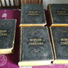 Diccionarios antiguos: DICCIONARIO ETIMOLÓGICO DE LA LENGUA ESPAÑOLA ROQUE BARCIA 1880 LOTE COMPLETO 5 LIBROS.. Lote 137926630