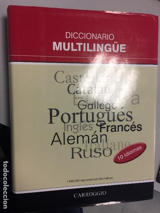 Diccionarios antiguos: Diccionario Multilingüe, 10 idiomas, muy práctico, gran formato, a estrenar! - Foto 7 - 170639560